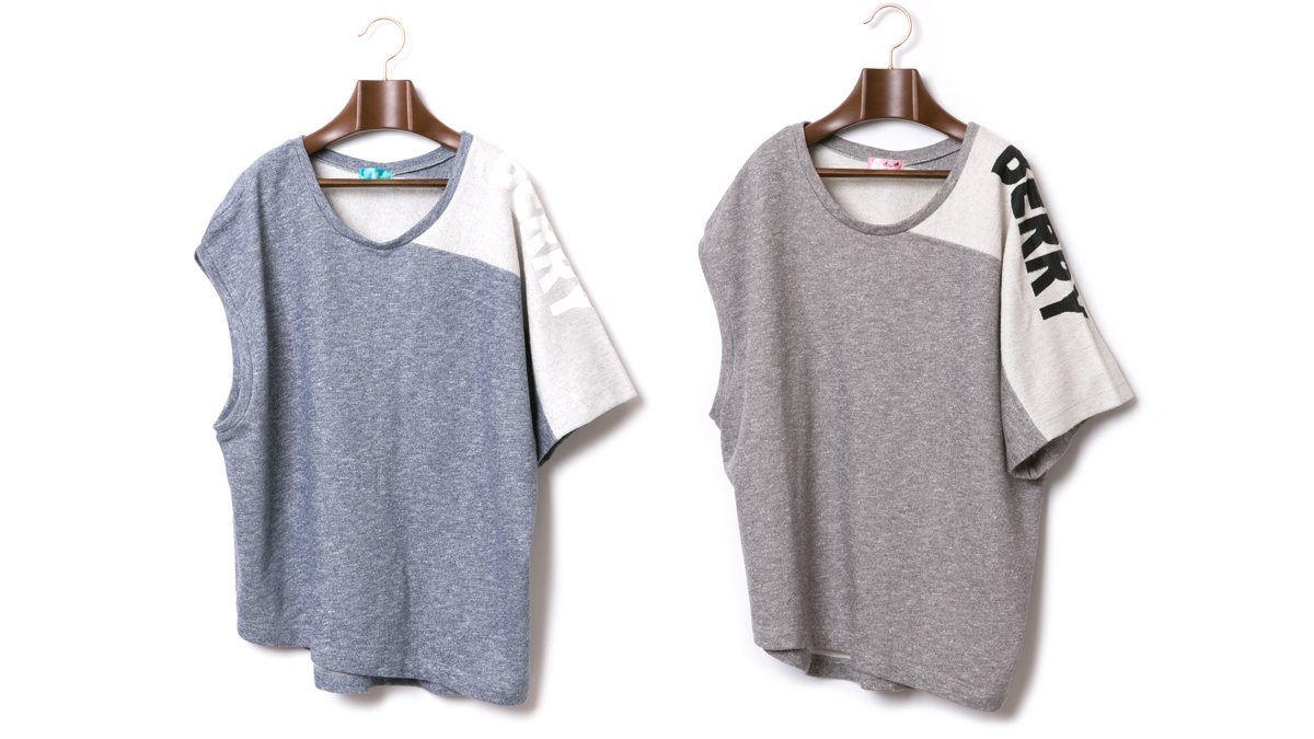 ASYMMETRY SWEAT TOPS (BLUE GRAY) ¥11,000