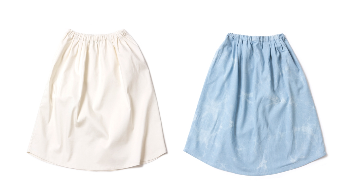 SPRING DENIM SKIRT(WHITE WASH) ¥8,900