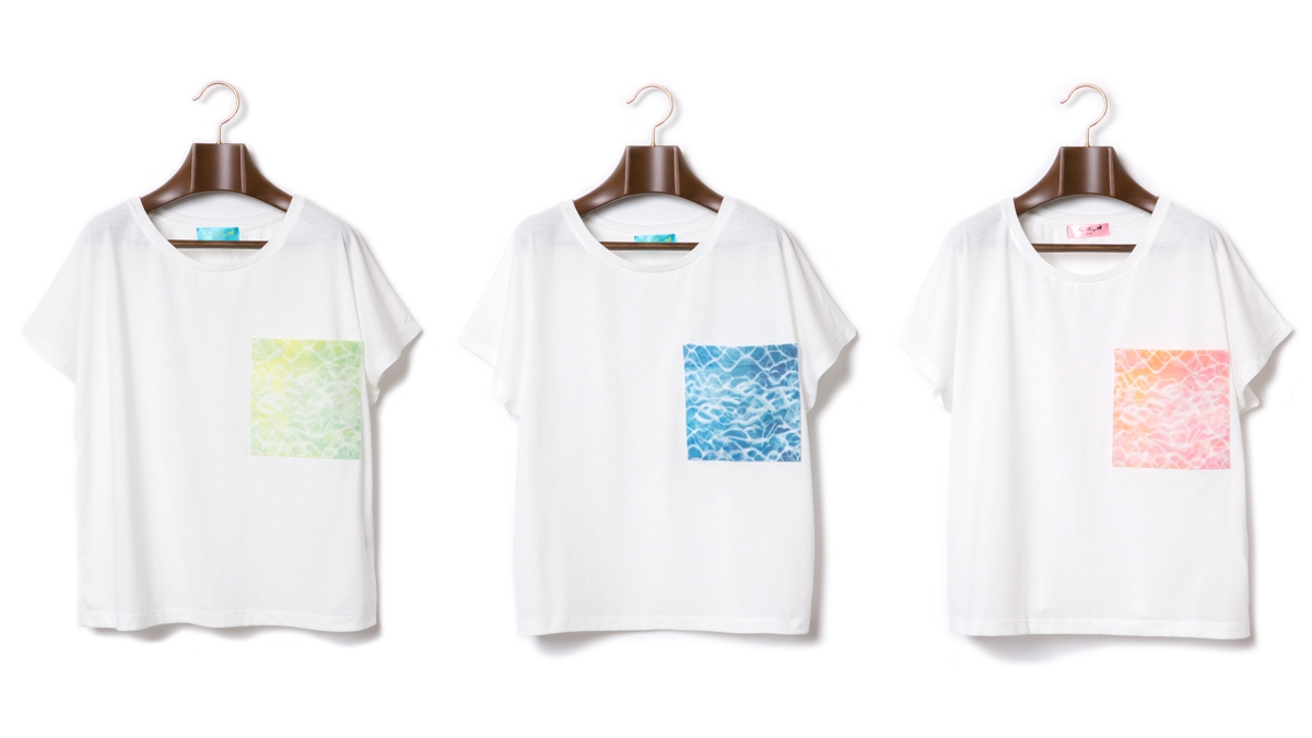 BERRY SURFACE POCKET TEE (GREEN BLUE PINK) ¥4,800