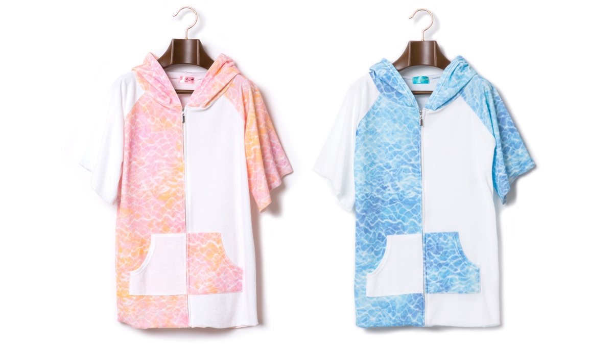 BERRY SURFACE PILE ZIP HOODIE (PINK BLUE) ¥12,000