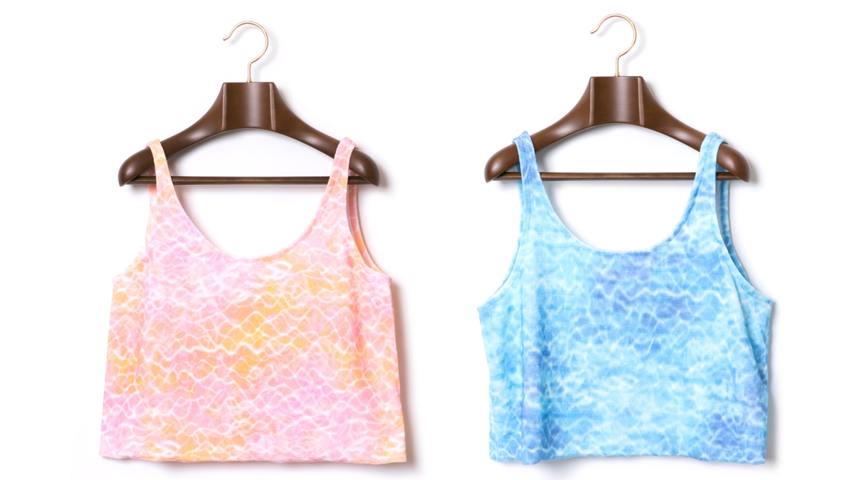 BERRY SURFACE PILE TANK(PINK BLUE) ¥6,500