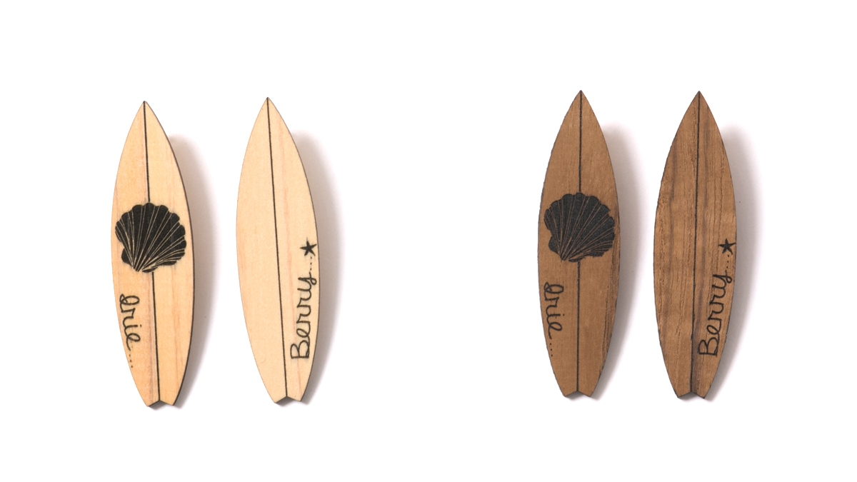WOOD SURF BOARD PIEARCED (NATURAL BROWN) ¥4,500