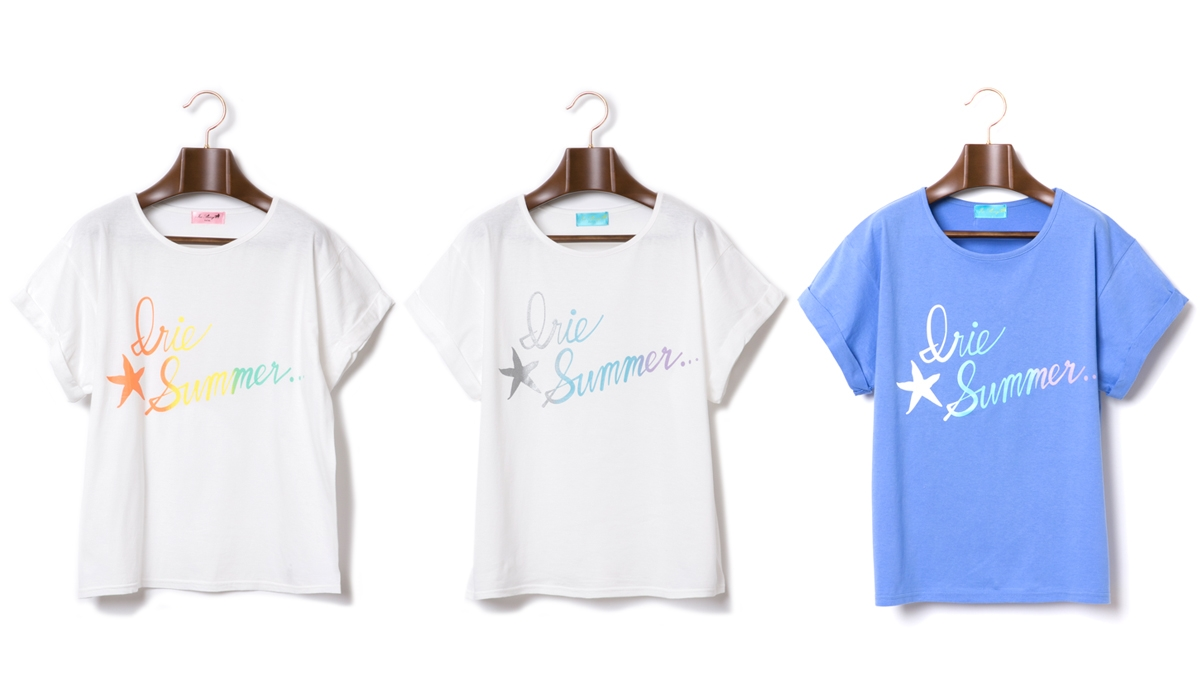 IRIE SUMMER TEE (WHITEYELLO WHITEBLUE BLUE) ¥4,500
